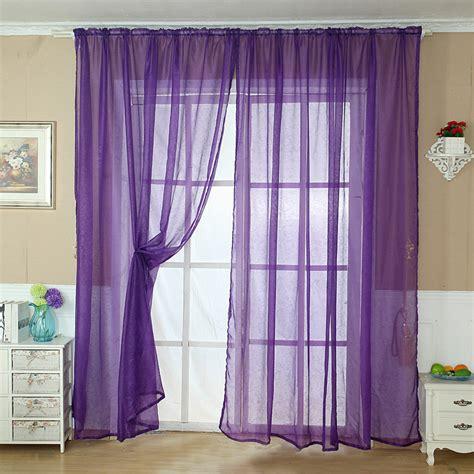 purple sheer curtains walmart solid color tulle door window curtain drape panel sheer