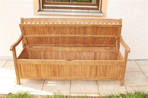 Gartenbank Truhenbank 3sitzig Aus Fsc Eukalyptus 157 Cm