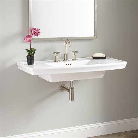 white vessel sink home depot olney porcelain wall mount sink bathroom