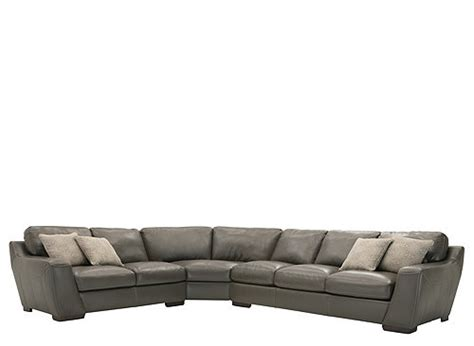 Carpenter 3-pc. Leather Sectional Sofa W/ Queen Sleeper