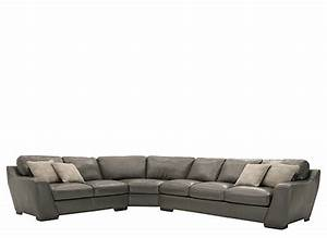 carpenter 3 pc leather sectional sofa w queen sleeper With sectional sofa w queen sleeper