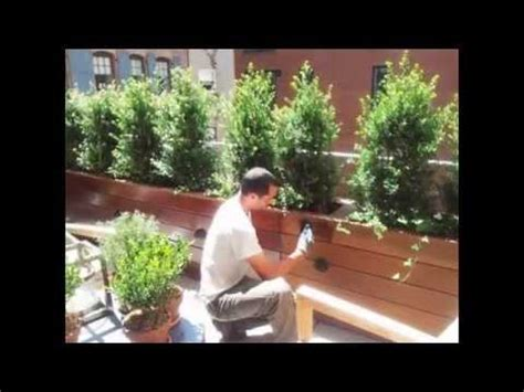 custom wood planter boxes  nyplantings youtube