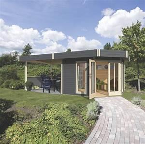 Gartenhaus Mit Terrasse : gartenhaus flachdach karibu corner cube poolhaus mit terrasse bausatz ebay ~ Whattoseeinmadrid.com Haus und Dekorationen