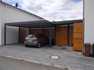 Carport 2 Voitures Bois : photo carport moderne avec carport 2 voitures pas cher ~ Dailycaller-alerts.com Idées de Décoration