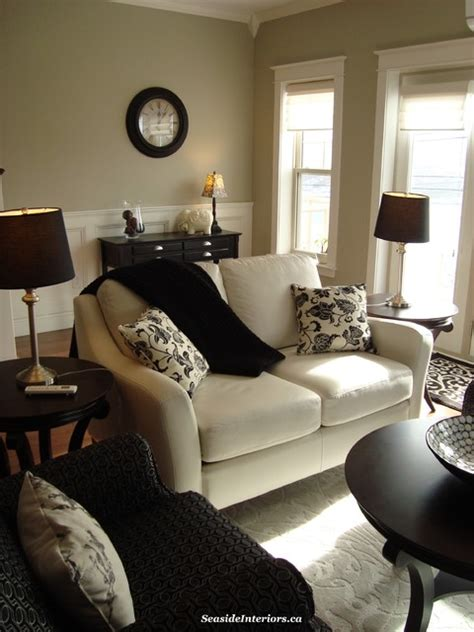 Taupe And Black Living Room Ideas by Classic Black And White Living Room