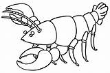 Lobster Coloring Clip Cartoon Library Clipart Pages sketch template