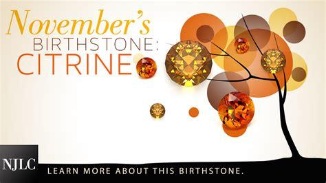 birthstone color for november november birthstone citrine
