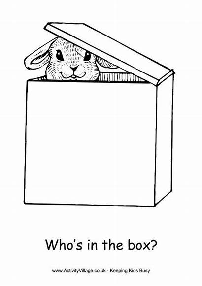 Box Coloring Colouring Easter Pages 650px 23kb