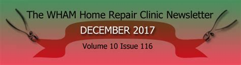 wham home repair clinic the wham home repair clinic 2016 newsletter archive jim