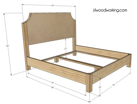 woodwork wood bed frame plans king  plans