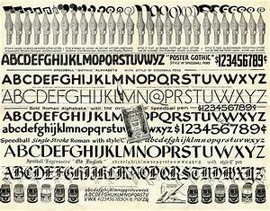 retrotechnologist lettering guide With speedball lettering guide