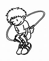 Jump Rope Coloring Pages Jumping Template Printable Sheets Sketch sketch template