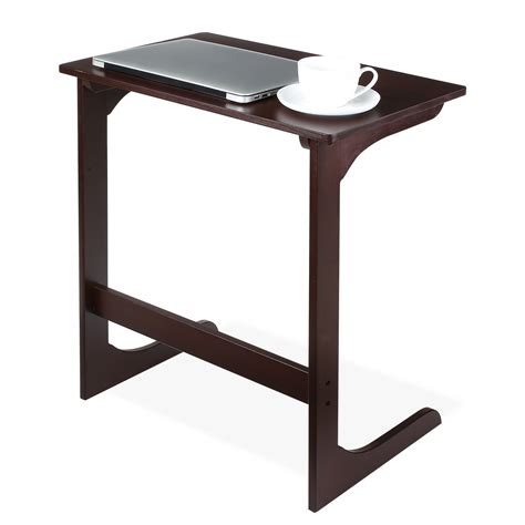 homfa bamboo snack table sofa couch coffee  table bed side table laptop desk  ebay