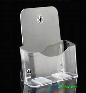 clear a5 single plastic acrylic brochure literature With acrylic document stand