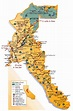 Gold Country California Gold Rush map showing great detail ...