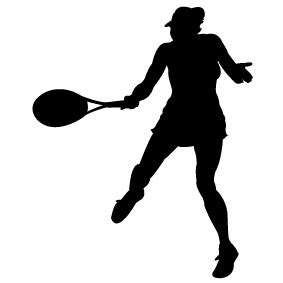 girl tennis silhouette clipart clipground