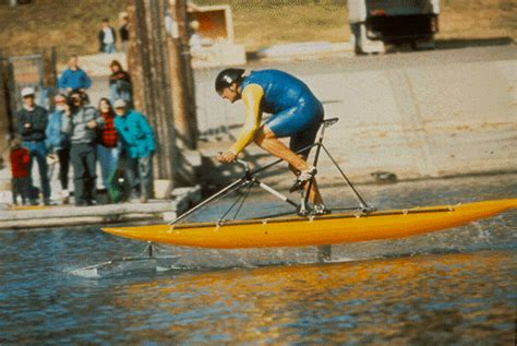 Man Powered Hydrofoil Boat by Human Powered Hydrofoil The Wingbike Hackaday