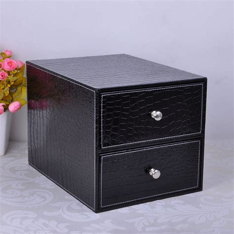 desk drawer file organizer double layer double drawer wood structure leather desk