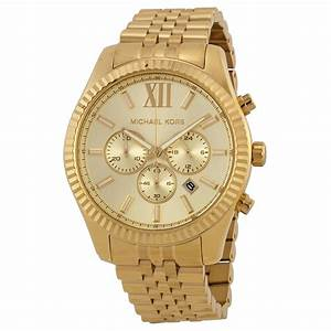 Michael Kors Lexington Chronograph Champagne Dial Men's ...