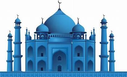 Masjid Mosque Vector Background Clipart Transparent Gambar