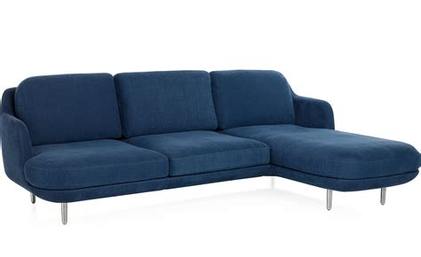 lune 3 seat sofa with chaise hivemodern com