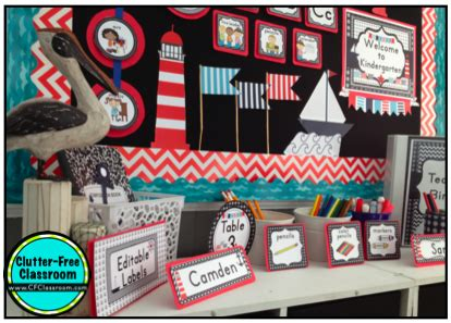 nautical sailing themed classroom ideas photos tips and more clutter free classroom