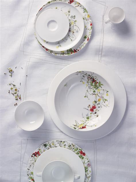 Rosenthal Fleurs Sauvages by Suppen Obertasse Brillance Fleurs Sauvages Rosenthal
