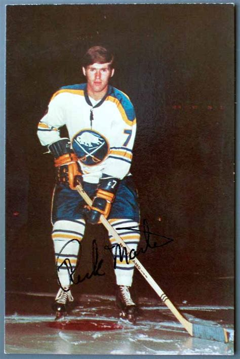 early  buffalo sabres autographed color postcard