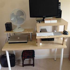 Ikea Utby Standing Desk Hack Standing Desk Ikea Make Your Own Standing Desk Cubicle