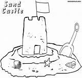 Sandcastle Coloring Pages Print Building sketch template