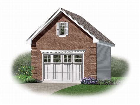 Plan De Garage Avec Loft by 1 Car Garage Plans One Car Garage Plan With Loft 028g