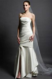 sexy mermaid wedding dresses with pleating white ivory With td wedding dresses