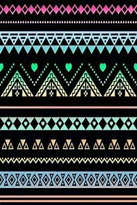 black neons lacey aztec print wallpaper (ok- where else ...