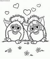 Coloring Colorear Dibujos Dice Furbys Template Furby Sin Pintar sketch template