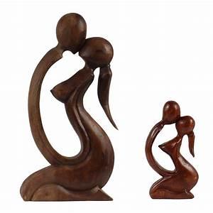 Deko Figuren Liebespaar : liebespaar mutter mit kind holzfigur skulptur figur geschenk deko ca 20 cm oder 40 cm ~ Indierocktalk.com Haus und Dekorationen