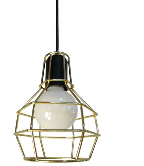 rustic industrial style cage foyer pendant light with