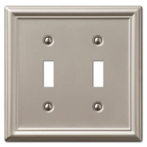 decorative wall switch outlet cover plates brushed nickel