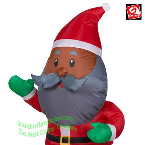 gemmy airblown inflatable  african american santa claus