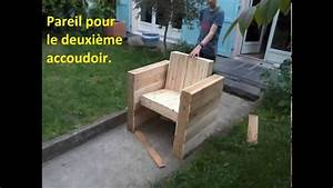 Fauteuil En Palette Facile : facile fabriquer votre fauteuil de jardin int rieur en bois de palette youtube ~ Melissatoandfro.com Idées de Décoration
