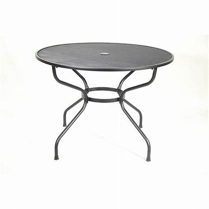 Table Bistro Mesh Round Tables Steel Dining