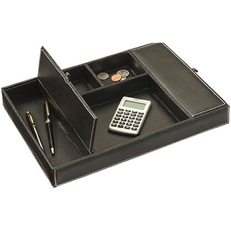 bureau valet faux leather dresser desk valet in desk accessories