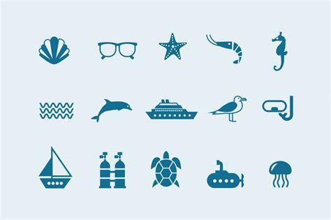 sea ocean icons creative vip