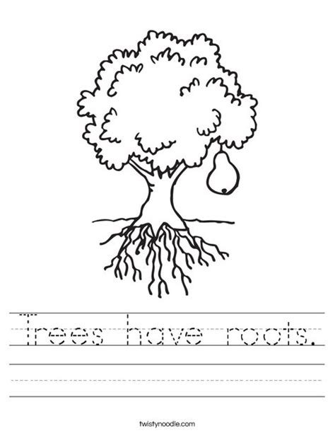 trees  roots worksheet twisty noodle