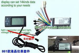 2020 24v36v48v250w350w Controller  U0026 Lcd Display 861 Manual