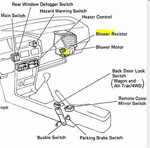 2000 Toyota Camry Blower Motor Resistor Location