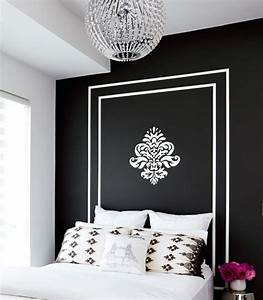 Romantic elegance collections black n white feature wall