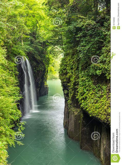 Takachiho Gorge And Waterfall In Miyazaki Kyushu Japan
