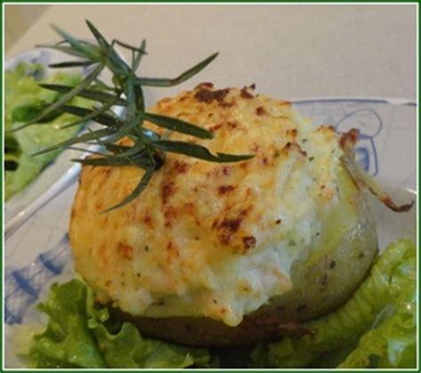 pommes de terre farcies au saumon fum 233 et fromage blanc