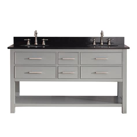 Bathroom Vanities 60 Inches Sink by 60 Inch Sink Bathroom Vanity In Chilled Gray