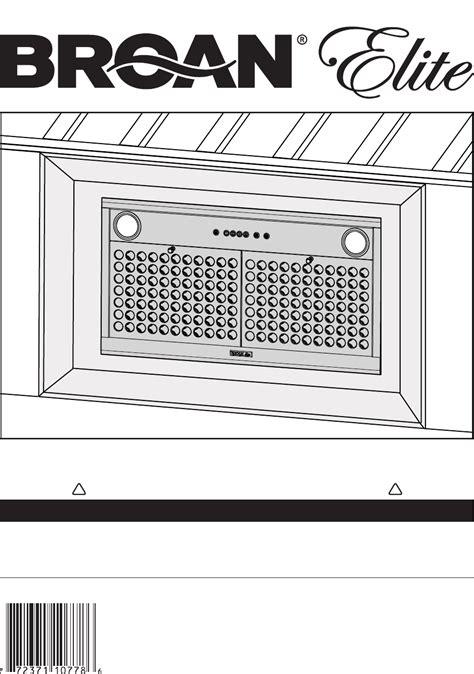 Nutone Bathroom Exhaust Fan Manual by Broan Manual